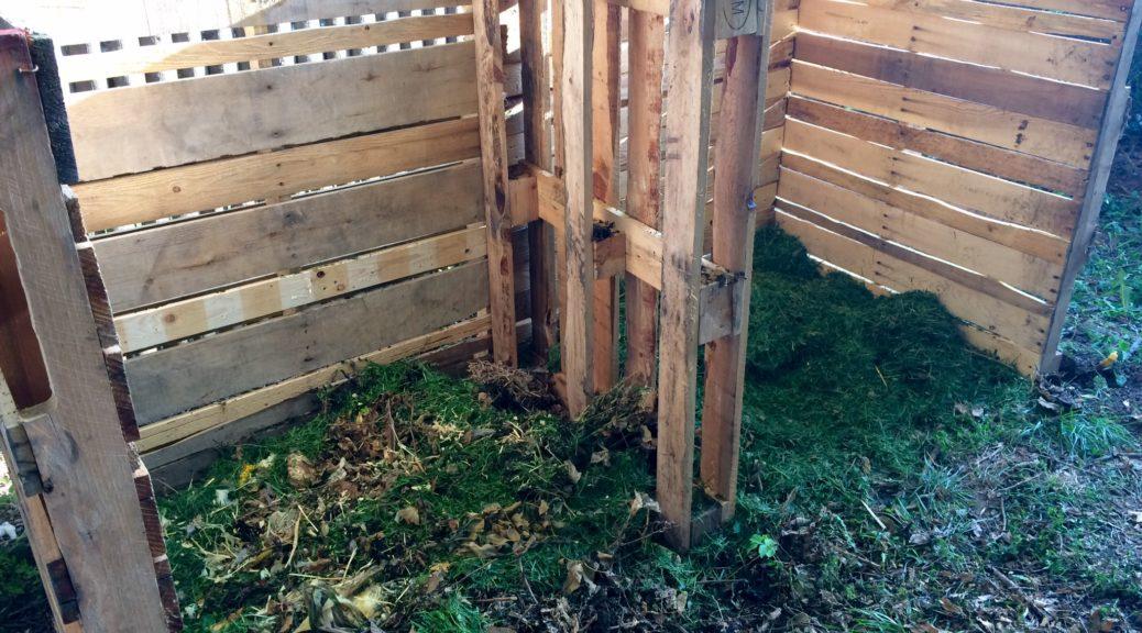 2-bin pallet composting bin