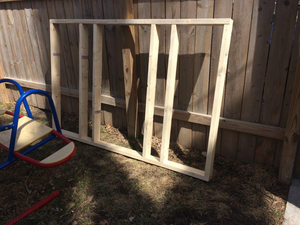 Chicken coop wall frame