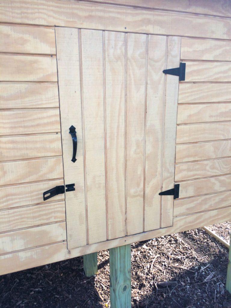 Hardware on chicken coop door