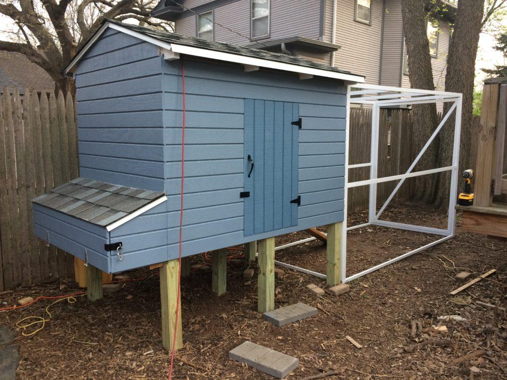 Painted chicken coop