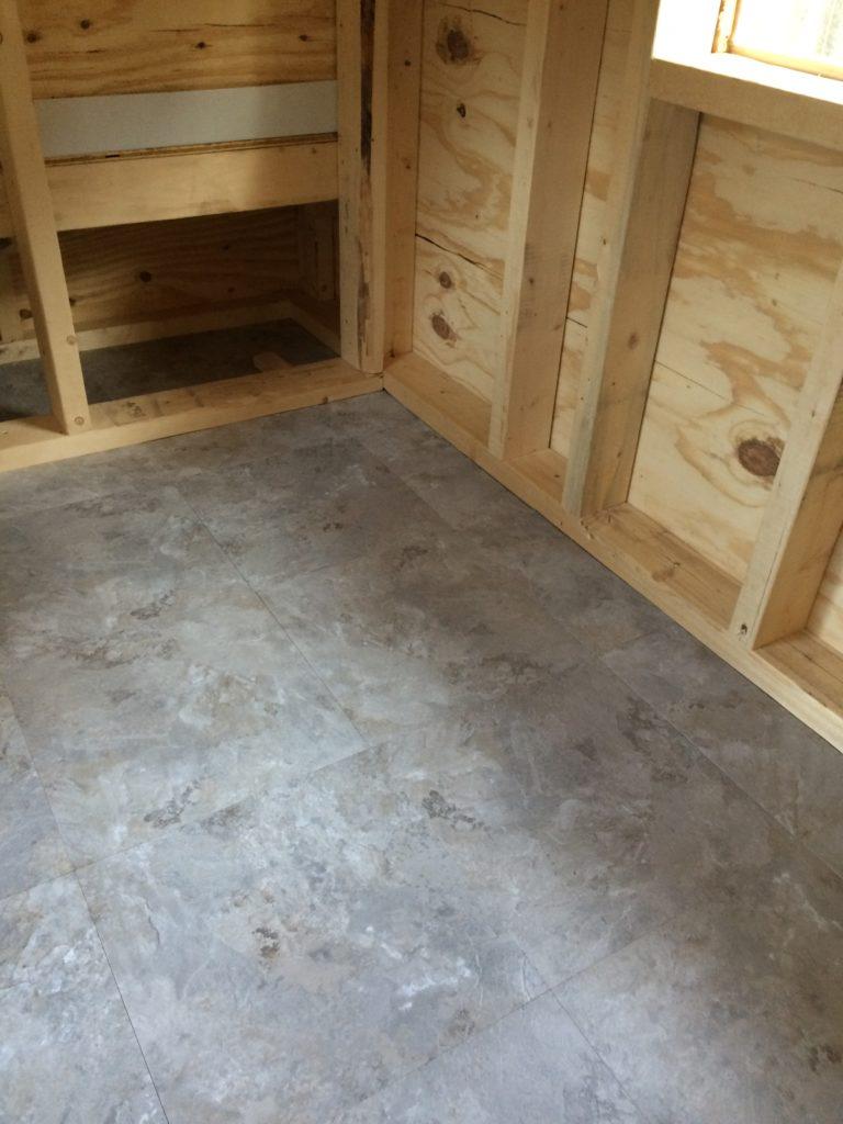 Chicken coop flooring