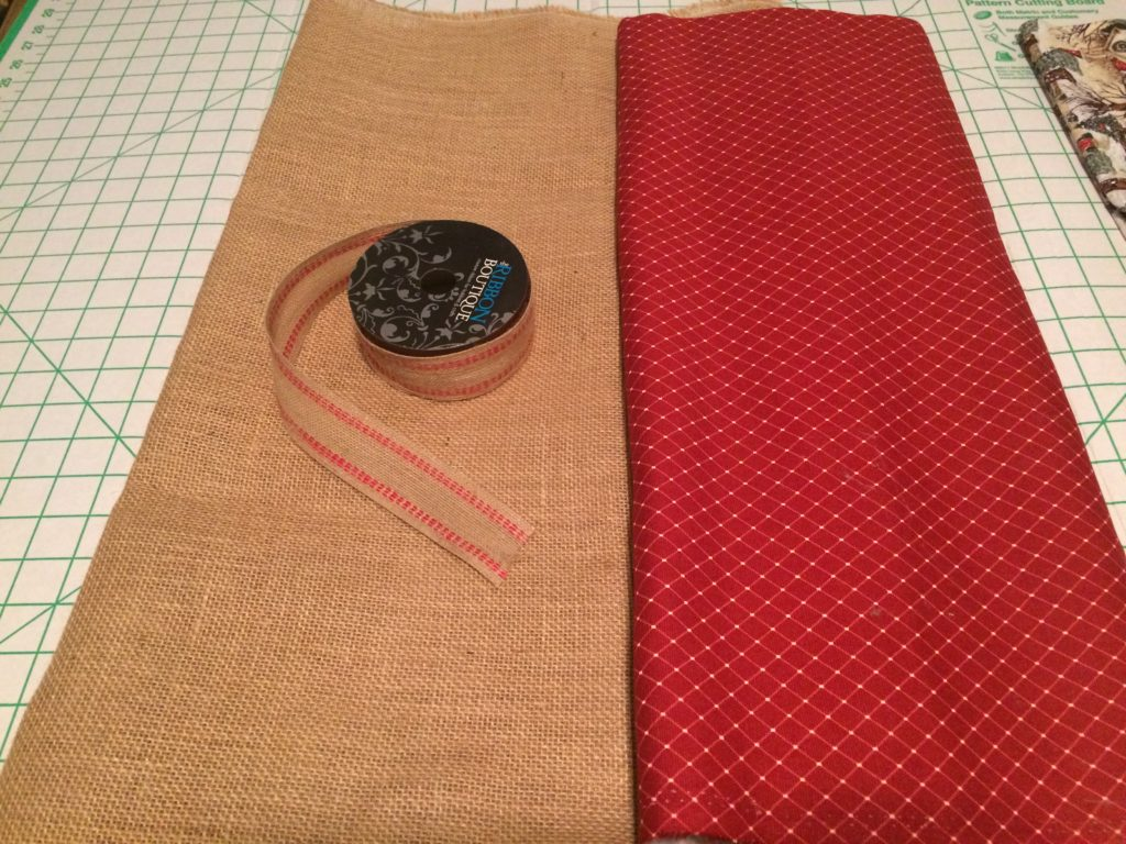 Rustic tree skirt fabric