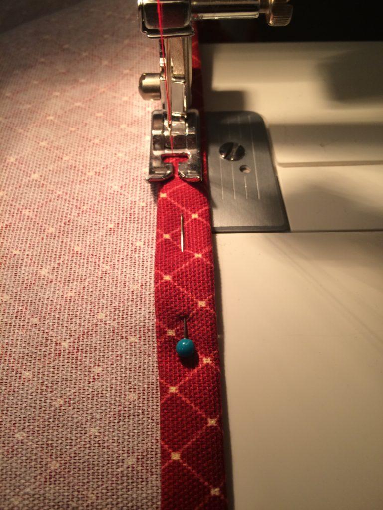 Sewing the strip hem