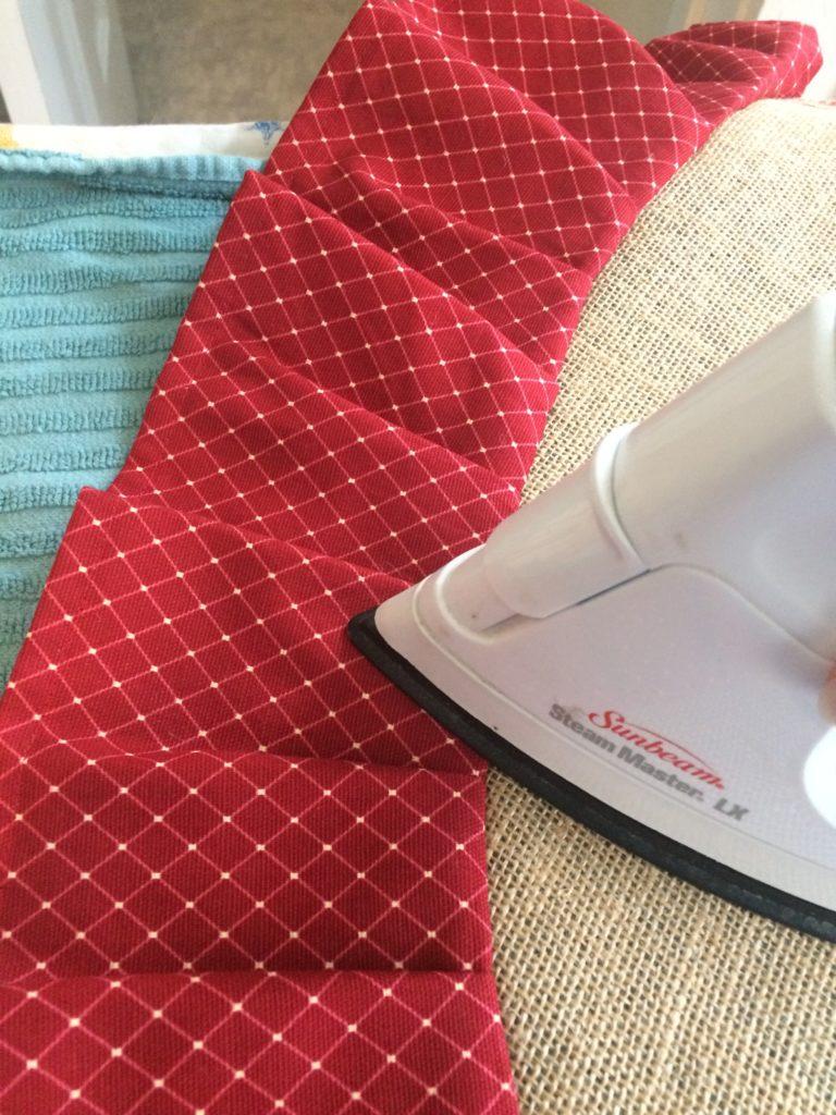 Ironing ruffle edge