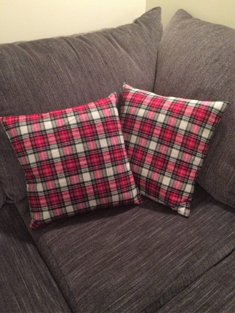 Easy to sew Christmas pillow covers