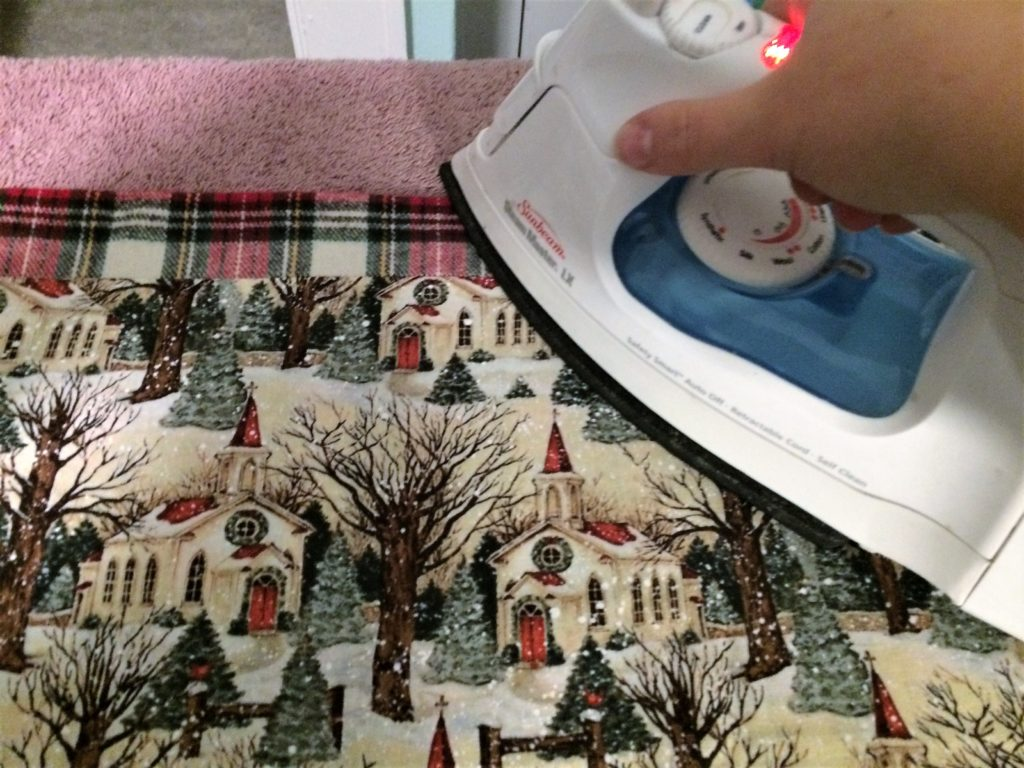 Ironing the tablerunner
